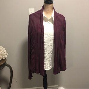 🇨🇦 H & M Plum Shawl Collar Cardigan Sweater